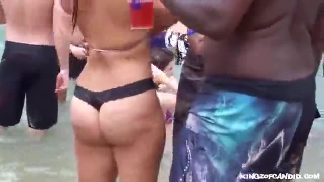 Candid voyeur pawg embarassed about her big juicy ass