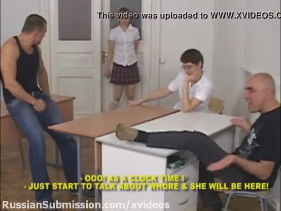 Russian girl spanking and cumshot