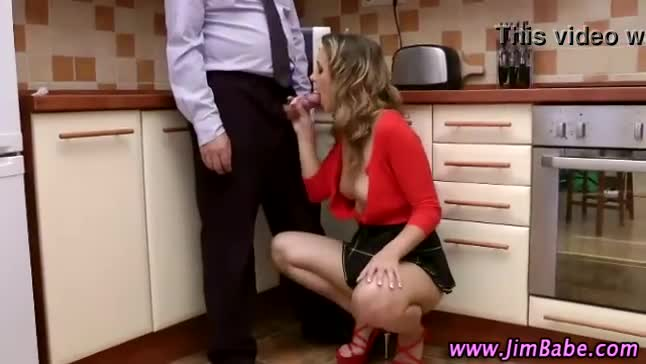 Mature guy loves his younger hooker on his hard dick