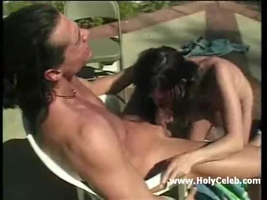 Busty raven haired pool whore fucked