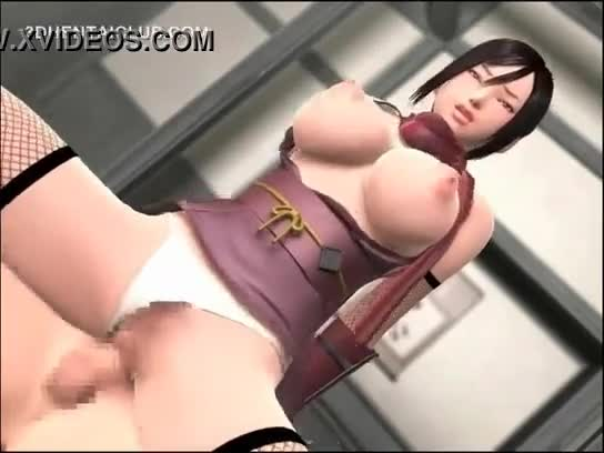 Big titted anime hentai in dripping pussy tit fucks hard dick