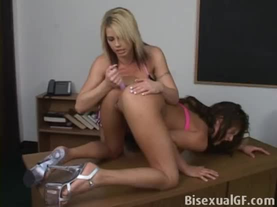 Lesbian girls are licking and pleasing