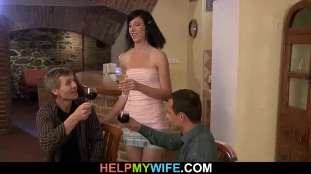 Marissa being fucked by old man while hubby watches