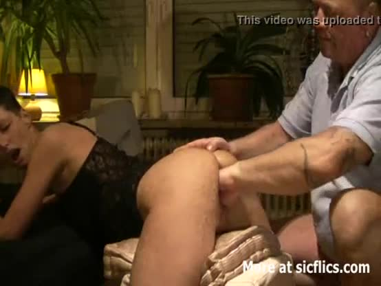 Skinny horny slut showing giant wrecked rectum cunt