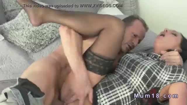 Orgy mature in stockings cunt banged on couch