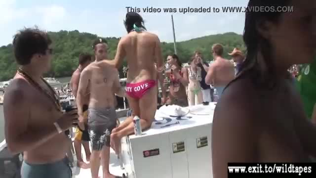 Lesbian teen sex in public party crowd