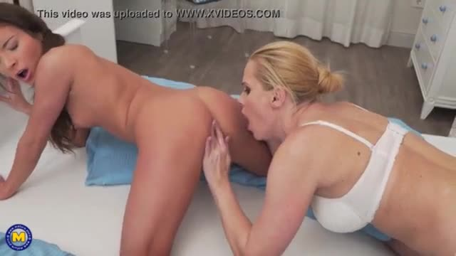 Naughty milf having sex with lesbian young daughter