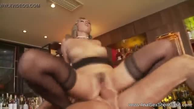Rocker babes banging in the bar