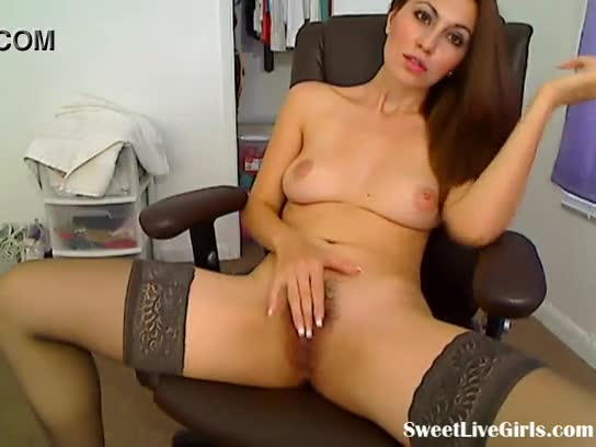 Sweet balck pussy fuck on the chair