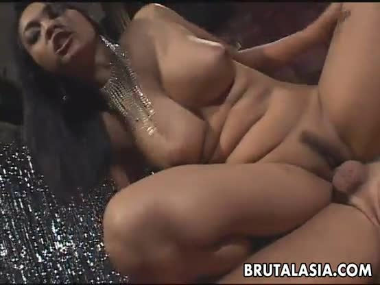 Big tits asian babe fucked in her ass