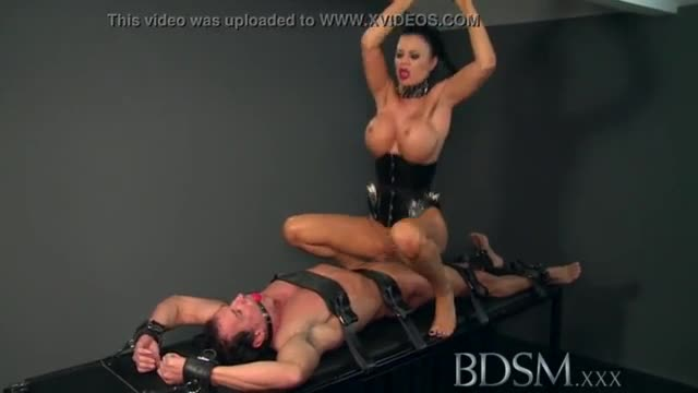 German submissive slut with big tits slapped and