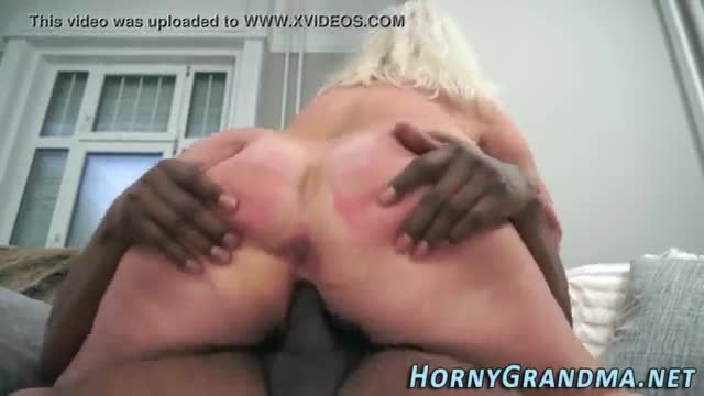 Mature blonde interracial