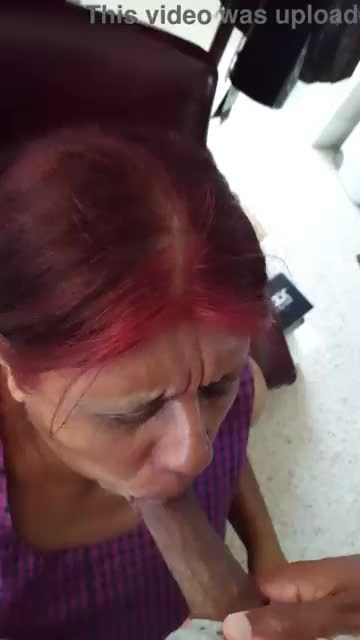Old mexican and black granny suck black dick