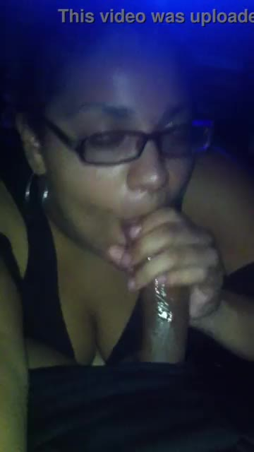 Black whore swallows my nut