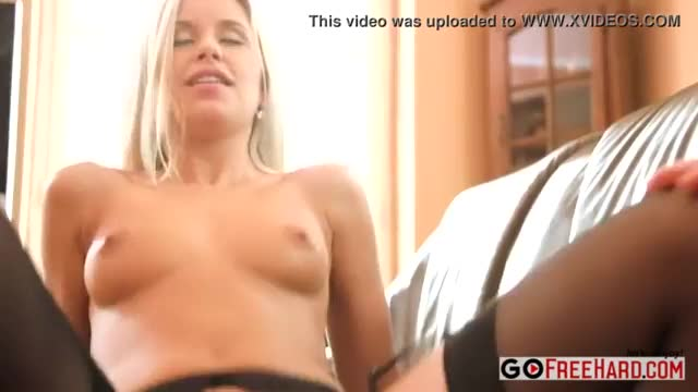 Hot blonde dido angel fucked in sexy lingerie and stockings