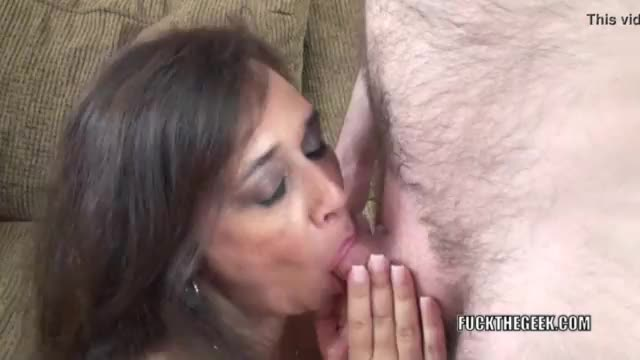 Elegant chick gives oral pleasure in pov and gets pink pussy fucked