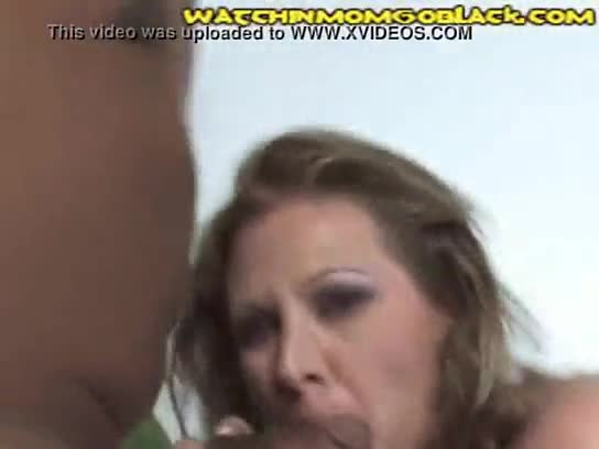Mom eats black cum in front of son