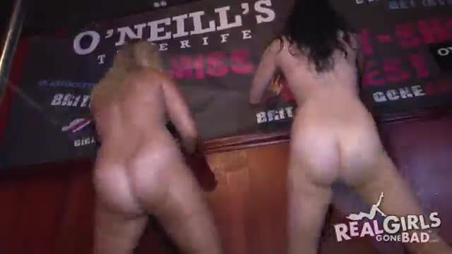 Wet tshirt and booty shake contest at a strip club in tampa florida real