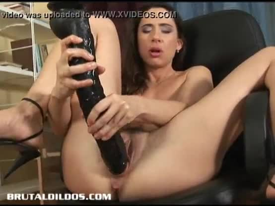 Super sexy slut with a dildo in her ass