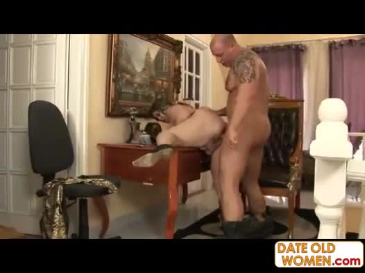 Old lady sucks and gets fucked hard