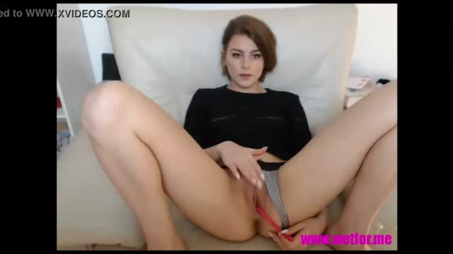 Young dutch girl plays with her asshole