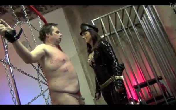 Femdom slapping the face of slavery