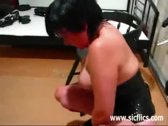 Exhibitionist whore with giant plug extreme anal