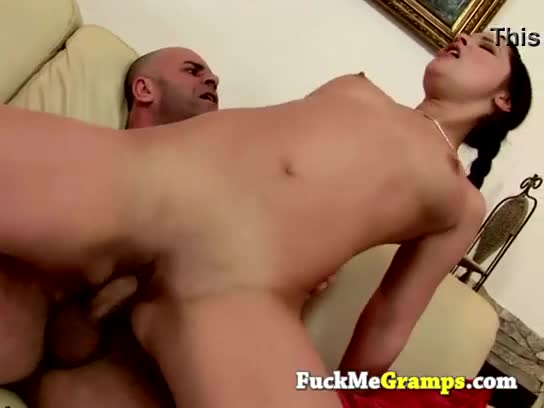 Perverted old man next door loves the way i suck his cock