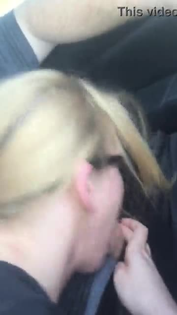 Summer sucking me off in the car