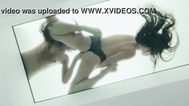 Two bewitching lesbian love licking pussies in art movi