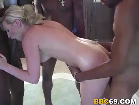 Brunette interracial gangbang and black mature sucks white cock xxx we