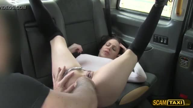 Sexy love rides a huge driver prick on his taxicab
