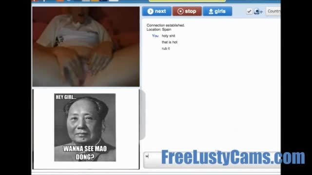 Chatroulette girls like to flash cumshot compilation