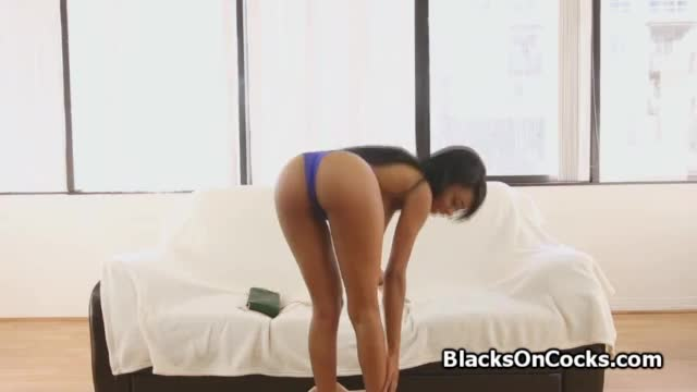 White babe fucking black cock and loves it