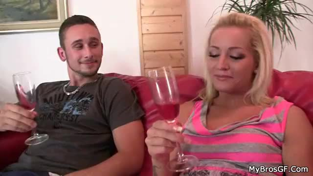 Her bf drunk and she fucks his brother