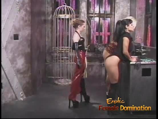 Hot blonde bondage anal and three lesbian domination and extreme cum load