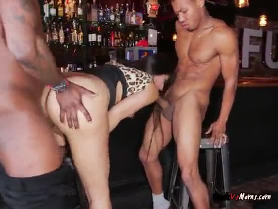 Horny cougar loves big black cocks