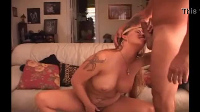 Blonde whore with bushy vagina penetrated