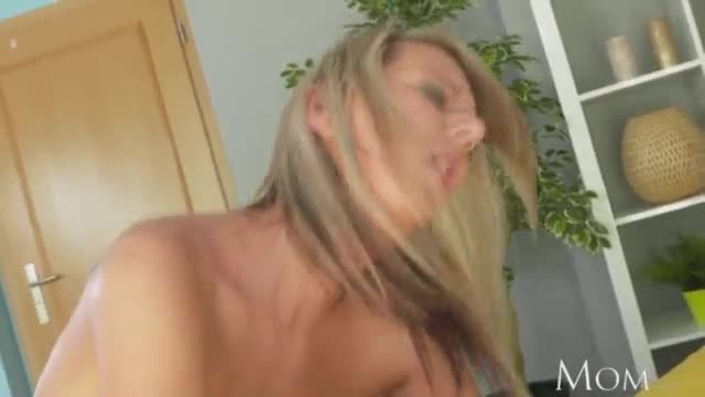 Mom gorgeous milf shows shy young guy how to