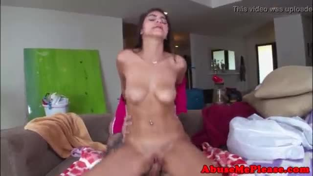 Roughly fucked nasty teen beauty swallows cum